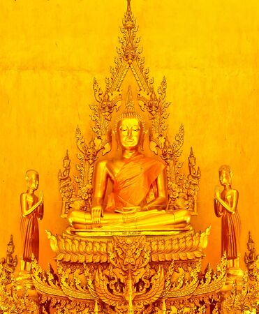 Buddha at Pak Nam temple in Chachoengsao, Thailand photo