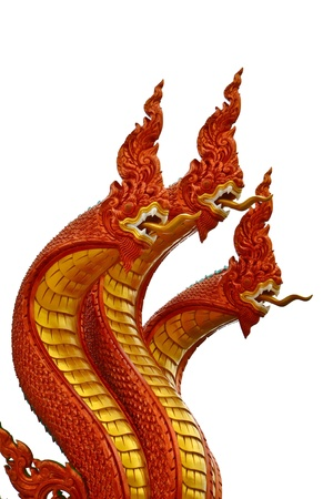 naga china: Dragon isolate thailand