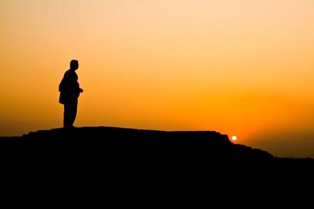 Sunset background india Stock Photo - 10821384