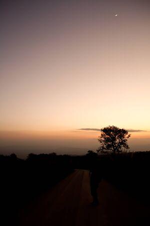 Sunset landscaped thailand photo