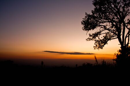 Sunset landscaped thailand Stock Photo - 10821496