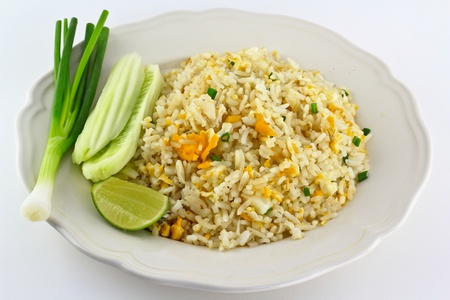 chicken rice: Fried rice thai food in bangkok thailand