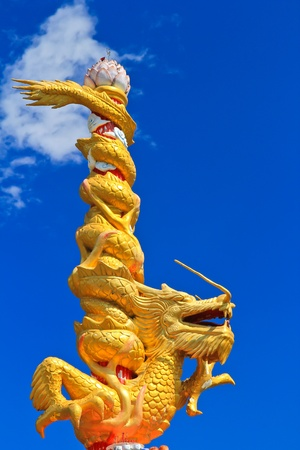 Dragon at the North of Thailand photo