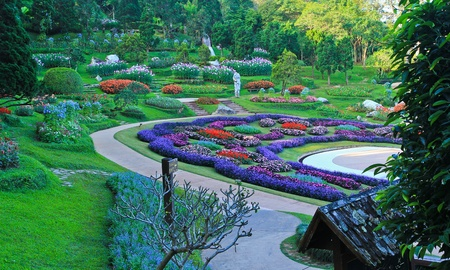 garish: The park at the North of Thailand Stock Photo