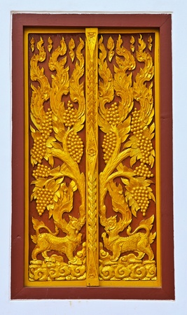 A door at the temple in Thailand photo