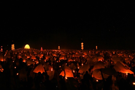 yeepeng: Yeepeng festival at the North of Thailand