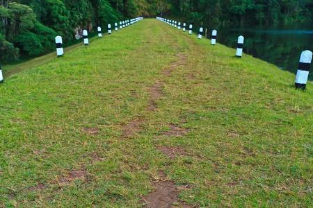pang: The path at reservior Stock Photo