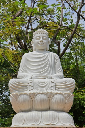 Marble buddha in Bangkok, Thailand photo