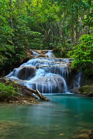 waterscape: Waterfall at Kanchanaburi in Thailand