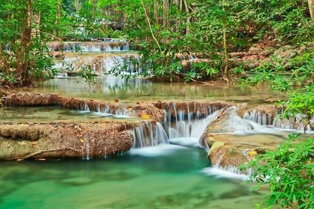kanchanaburi: Waterfall at Kanchanaburi in Thailand