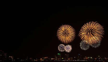 International Firework at Pattaya in Thailand Stock Photo - 12543800