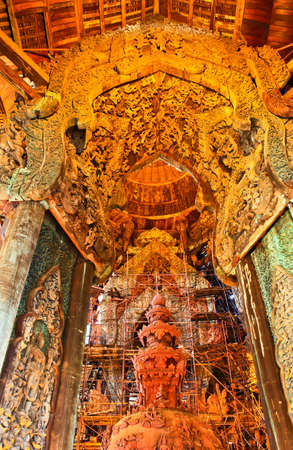 Sanctuary of Truth at Pattaya in Thailand photo