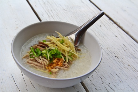 Rice porridge photo