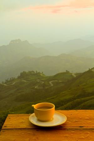 Une tasse de café Banque d'images - 12587071