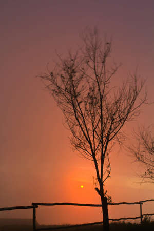 Sunset at Phetchabun in Thailand photo