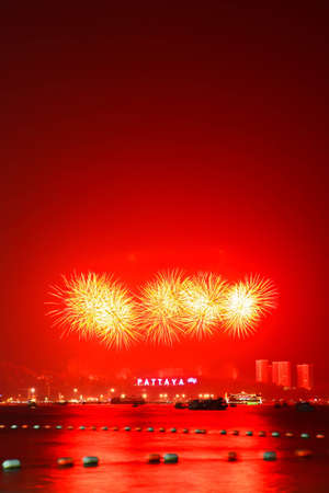 International Firework at Pattaya in Thailand photo