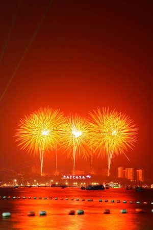 International Firework at Pattaya in Thailand photo