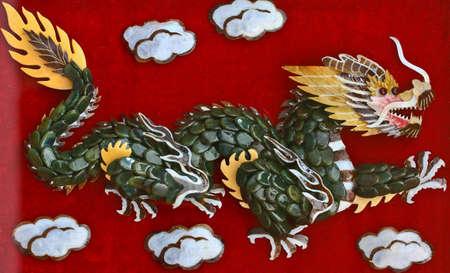 Dragon on the wall photo