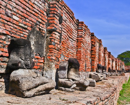 buddhist structures: Ancient temple at Ayutthaya in Thailand