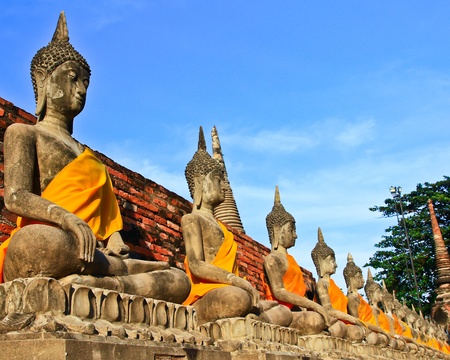 Ancient temple at Ayutthaya in Thailand Stock Photo - 13208246