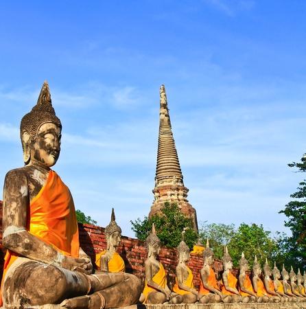 prayer tower: Ancient temple at Ayutthaya in Thailand