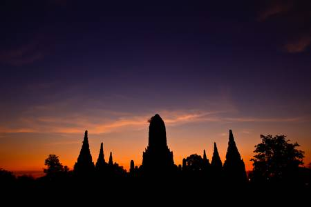 Ancient temple at Ayutthaya in Thailand photo