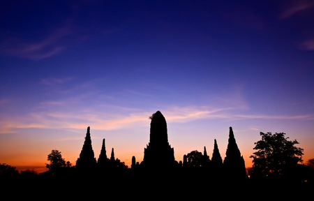 Ancient temple at Ayutthaya in Thailand Stock Photo - 13207071