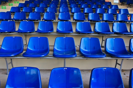 seating: Blue chairs Stock Photo