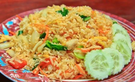 pan fried: Fried rice
