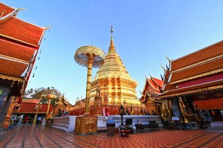 Wat Doi Suthep in thailand Stock Photo