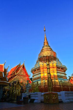 doi: Wat Doi Suthep in thailand Stock Photo