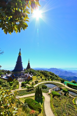 Pagoda Doi Inthanon in thailand photo