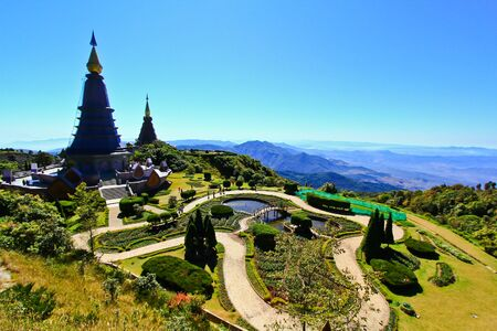 Pagoda Doi Inthanon in thailand Stock Photo - 13426473