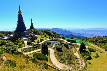 Pagoda Doi Inthanon in thailand photo