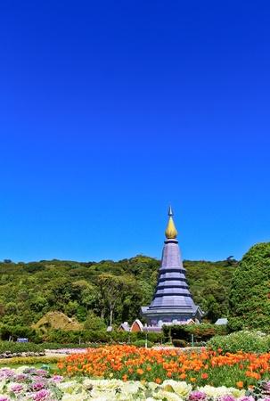 Pagoda Doi Inthanon in thailand Stock Photo - 13426337