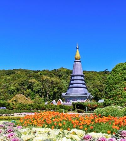 Pagoda Doi Inthanon in thailand Stock Photo - 13426276