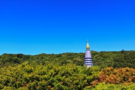 doi: Pagoda Doi Inthanon in Tailandia