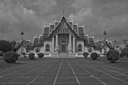 Temple Wat Benchamabophit  in bangkok thailand  photo