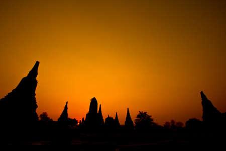 Old temple  ayutthaya in thailand photo