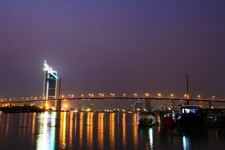 Rope bridge in bangkok thailand Stock Photo - 13427434