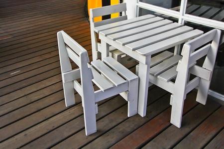 Table White chair photo