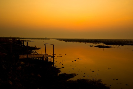 sunset countryside thailand Stock Photo - 13427230