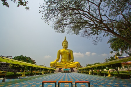 Big buddha statue at Wat muang, Thailand  Stock Photo - 13537044
