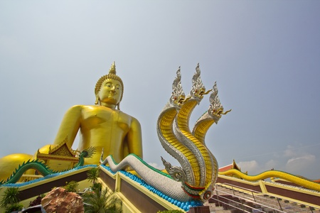 Big buddha statue at Wat muang, Thailand  Stock Photo - 13537046