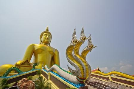Big buddha statue at Wat muang, Thailand Stock Photo - 13537046