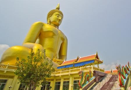 Big buddha statue at Wat muang, Thailand Stock Photo - 13538176