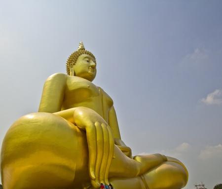Big buddha statue at Wat muang, Thailand Stock Photo - 13538175