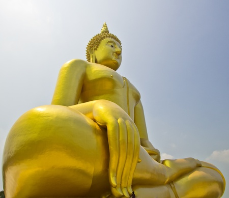 Big buddha statue at Wat muang, Thailand  Stock Photo - 13537050