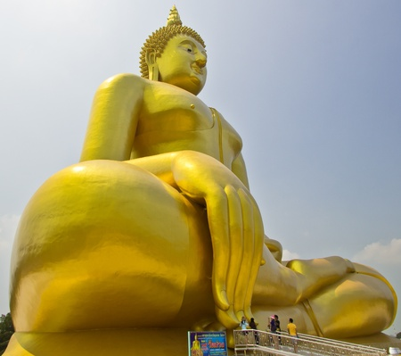 Big buddha statue at Wat muang, Thailand  Stock Photo - 13537048