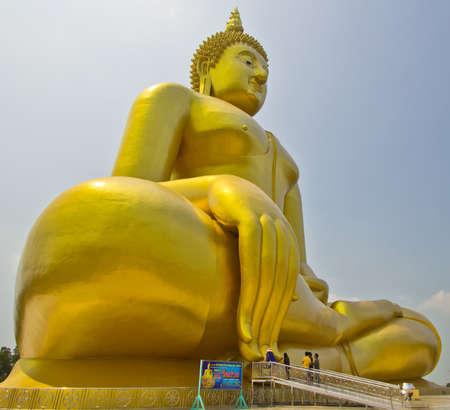 Big buddha statue at Wat muang, Thailand Stock Photo - 13537061
